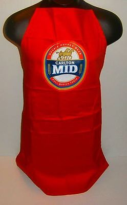 Carlton Mid Beer BBQ Apron brand new unused for home bar or collector