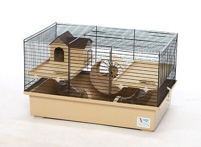 Cage for Hamster, Mouse or Gerbil with accessories - MULTICOLOUR