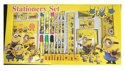 17Pc Minions Character Stationary Pen Set Boys Girls School Party Gift Children