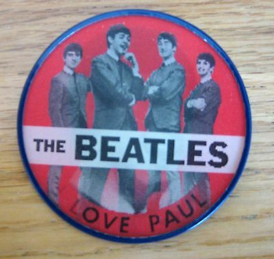 I Love Paul Flicker Button - Red