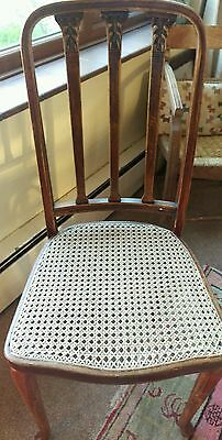 Beautiful original thonet carved back, cane seat, bentwood chair
