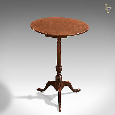 Antique Wine Table, Georgian, Tripod, Side, English Oak Country Furniture c.1800