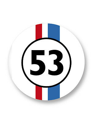 Pin Button Badge Ø25mm La Coccinelle 53 Herbie Choupette