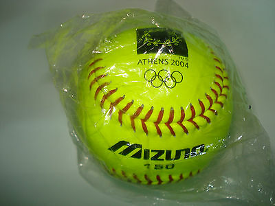Softball Athens 2004 Olympic Games - Mint Authentic Mizuno Game Ball