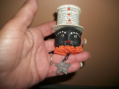 Bethany Lowe Halloween Pin/ Believe Retired. Exc. Used Cond. Paper Mache.