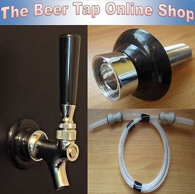 Draft Beer Tap Faucet & Shank With Beer Line. Kegerator / Keezer Conversion  Kit