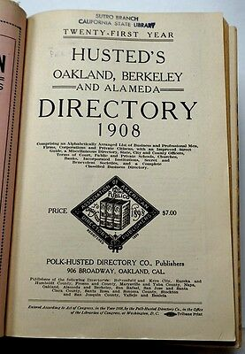 Husted's Oakland, Berkeley and Alameda Directory 1908
