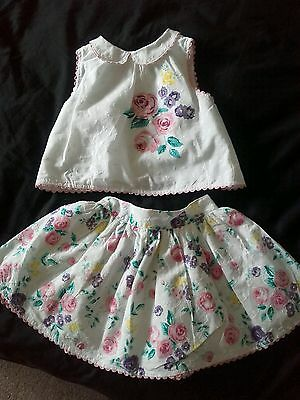 Girls aged 1.5-2years Summer Skirt and Top set Trendy Outfit Cute occasion wear