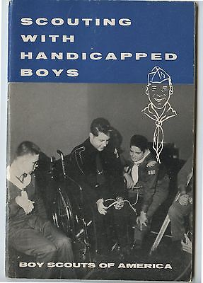 Old 1957 Boy Scouts of America Scouting with Handicapped Boys Book