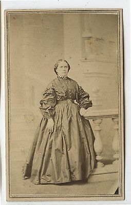 Antique CDV Photo Woman in Dress Mrs.Callahan