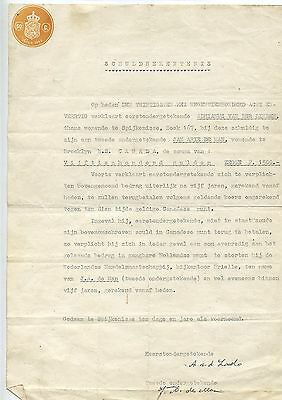 Old 1948 Dutch Canadian Schuldbekentenis Confession of Gulit Letter
