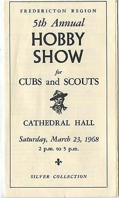 Old 1968 Fredericton NB Annual Hobby Show for Cubs Boys Scouts Brochure