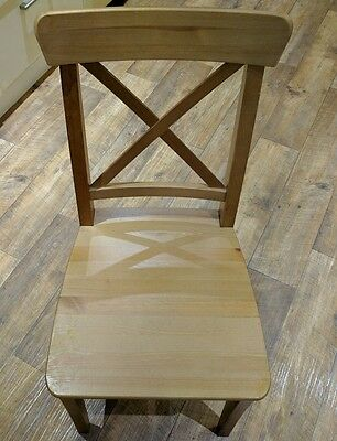 set of 4 ikea ingolf kitchen dining chairs antique stain