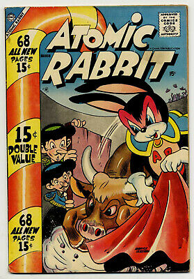Atomic Rabbit #11 (Charlton 1958 fn/vf 7.0) 68 pages. Guide value: $61.00 (£50)