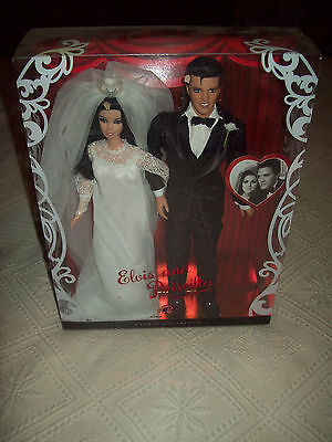2008 Barbie Collector Pink Label Elvis And Priscilla Wedding Set Nrfb!
