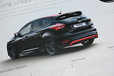 Ford Focus Zetec S Red and Black Edition Brochure 2015