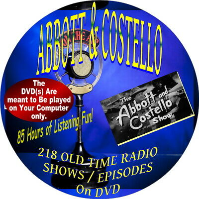 Abbott & Costello Old Time Radio Shows On Dvd- Comedy-Audiobook-Who's On First