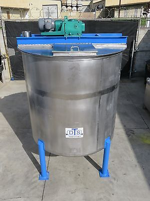 1200 gallon stainless steel mixing batch tank