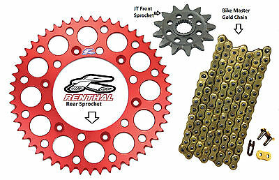 Renthal Red Sprocket and Gold Chain Kit Honda Cr125r Cr 125r  87-03 13-50T