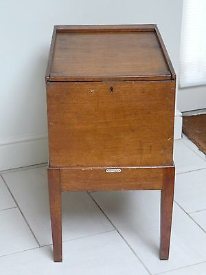1930s Art Deco Oak Storage Box / Filing Cabinet Office Study Cabinet with Label