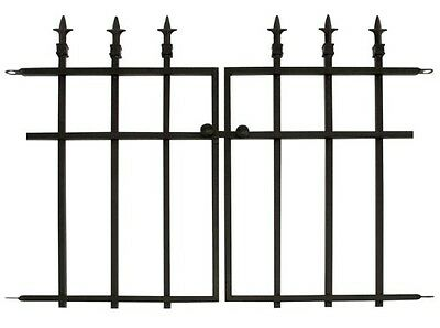Panacea Products Classic Finial Gate, Black