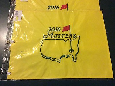 2016 Masters Augusta National Pin Golf Embroidered Flag - Danny Willet