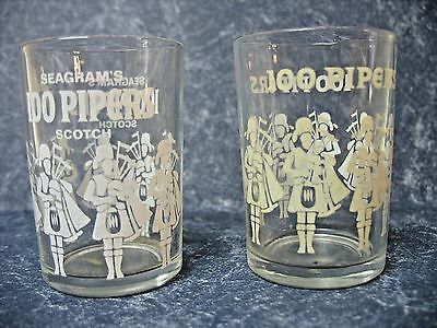 Two 100 Pipers Shot Glasses