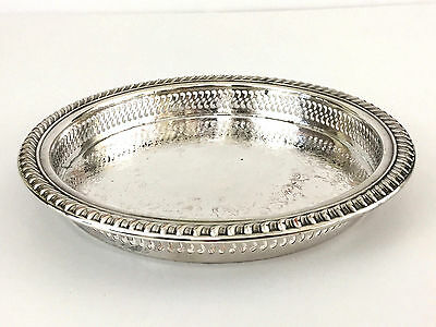 vintage Wm Rogers small silver plated cocktail tray 1940's 1950's