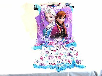 Disney Frozen Girls' 2pc Poly Sleep Set Sz 7/8 BRAND NEW