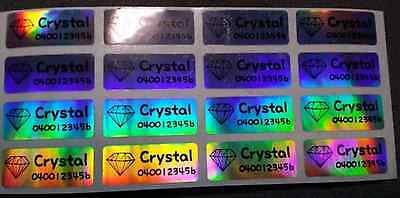 Small Laser Personalised Name Labels, Name Stickers, 22x09mm, Waterproof