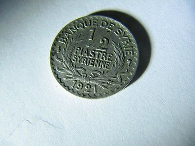 Syria 1/2 Piastre 1921  Km#68 Nice Condition Coin
