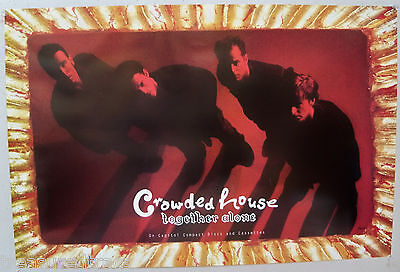 Original 1993 Crowded House Together Alone Large  Capitol Promo Poster NOS