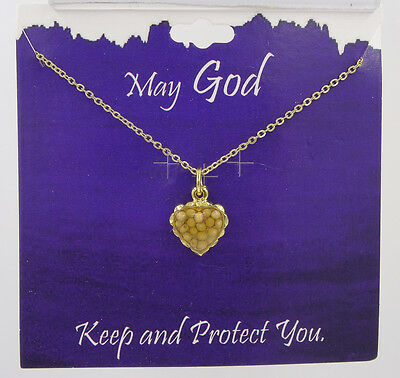 New Inspirational Mustard Seed Heart Necklace Made in USA #RN5