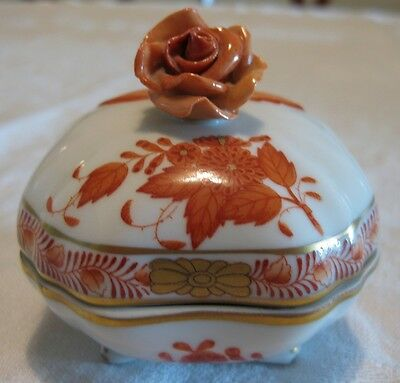 Herend Chinese Bouquet Rust Trinket Box A/F • £9.99 ...