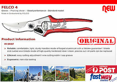 Felco 4 Pruning Shear with FREE OZ Sharpener