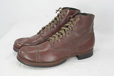 Ww2 Us Army Leather Boots Size 12 1941/42