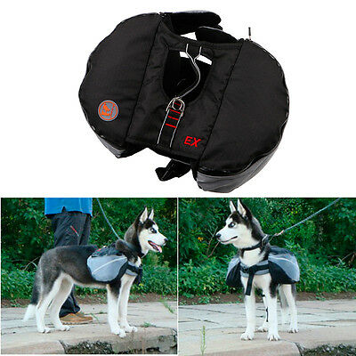 Pet Dog Saddle Backpack Harness Carrying Pack Bag for Outdoor Hiking Training