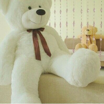 1.2m Tall Giant Huge Stuffed Cuddly Teddy Bears Plush Doll Great Gift White