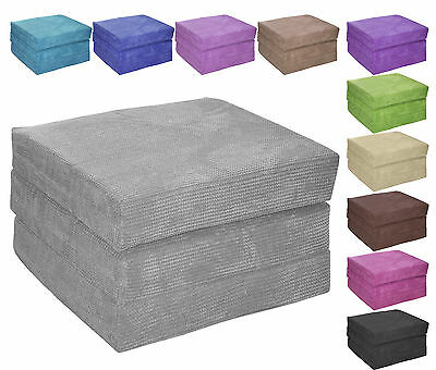 ADULT CUBE - Deluxe Designer Z Guest Fold Out Futon Sofa Chairbed Matress foam
