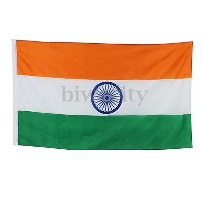 5x3FT Large Premium India Indian National Fans Supporters Polyester Flag Banner