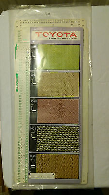 Brother Singer Knitting Machine Parts Toyota Punch Card Pattern 5031-5040 Set