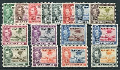 Gambia 1938-46 set SG150/61 MM cat £160