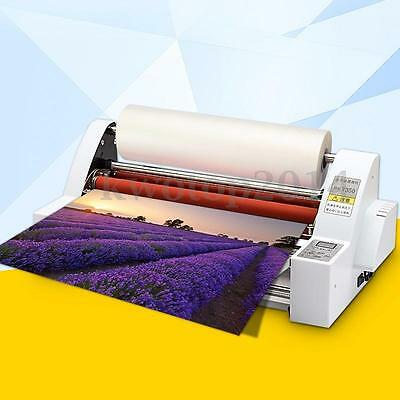 19'' Roll Laminating Machine Hot/Cold Double Side Laminator Four Rollers 700W