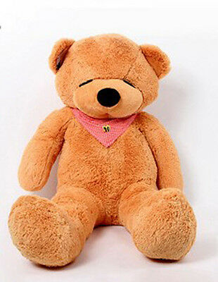 1.6m Tall Giant Huge Stuffed Teddy Bears Plush Doll Great Gift Light Brown