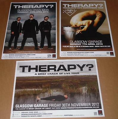 Therapy? posters - collection of 3 tour concert / gig poster