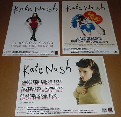 KATE NASH posters - collection of 3 tour concert / gig poster