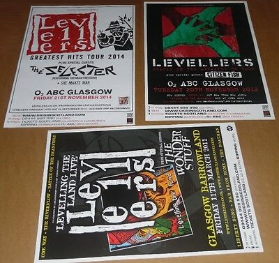 The Levellers posters - collection of 3 tour concert / gig poster