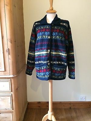 Vintage 1990s Laura Ashley 100% Pure New Wool Cardigan • Size M