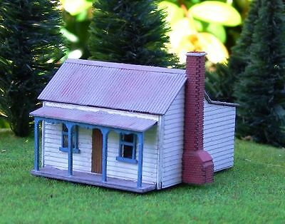VICTORIAN MINERS COTTAGE House 64x48x48mm N 1/160 scale Laser cut Wood kit MTB