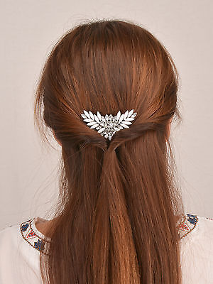 New Women Wedding Prom Bride Bridesmaid Hair Head Jewelry Crown Hair Comb UK
